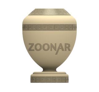 Cremation urn, 3d rendering