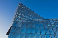 The JTI Building, headquarters of Japan Tobacco International, Geneva, Switzerland