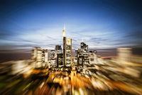 Frankfurt skyline with zoom effect