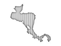 Karte von Zentralamerika auf Wellblech - Map of Central America on corrugated iron