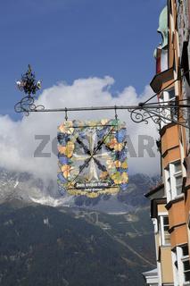 Wirtshausschild in Innsbruck