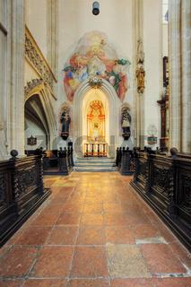 Altar der Piaristen Kirche in Krems, Wachau, Waldviertel, Niederösterreich, Österreich -  Piaristen Church in  Krems, Wachau Region, Waldviertel Region, Lower Austria, Austria