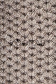 Handmade beige knitting wool texture