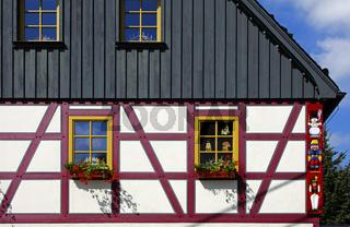 Erzgebirgisches Fachwerkhaus, Seiffen, Deutschland