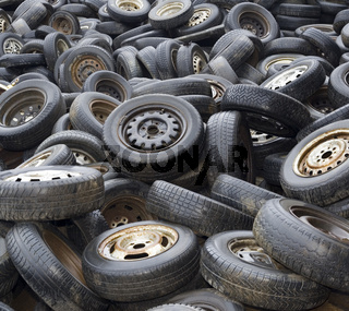 Wheels on dump