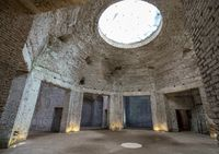 Remains of dome  inside Domus Aurea in Rome