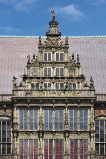 Bremen - Rathausgiebel, Weserrenaissance, Deutschland