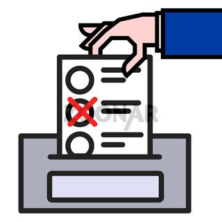 Giving Vote Concept