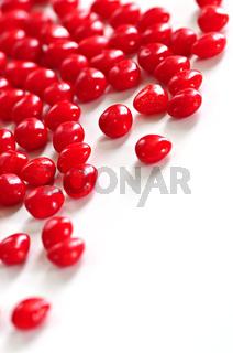 Valentine cinnamon heart candies