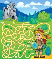 Maze 4 with scout girl