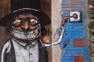 Wandmalerei in Cadaques,Spanien