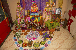 Puja food offerings to Lord Ganesh