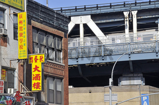 Chinatown und Manhattan Bridge