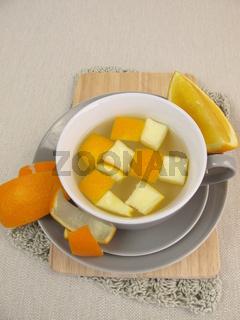 Orangenschalentee