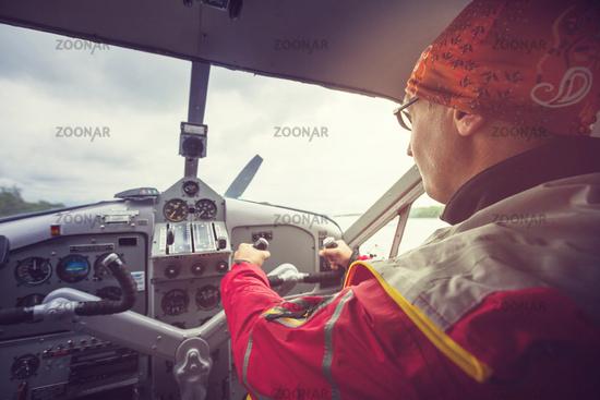 Man in aircraft