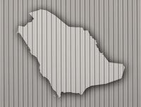 Karte von Saudi-Arabien auf Wellblech - Map of Saudi Arabia on corrugated iron