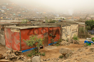 Hütten in Slums, Lima