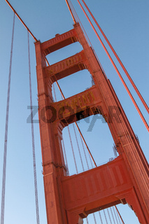 Detail of Golden Gate Bridge in San Francisco, California, United States
