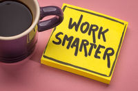 work smarter inspirational reminder note