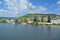 Town of Traben-Trarbach at Mosel River in Mosel Valley,Rhineland-Palatinate,Germany