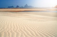Clean white sand on thai beach