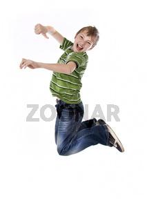 junge springt hoch wd721
