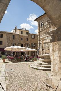 Montepulciano in der Toskana, Italien