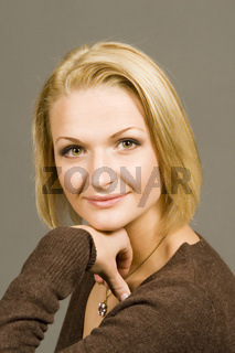 Junge blonde Frau, attraktiv, young blonde woman, attractive