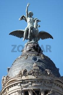 Dach Turm mit Figur, Barcelona