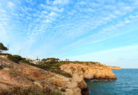 Evening Atlantic rocky coastline, Algarve, Portugal