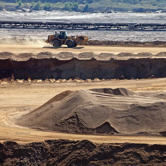 brown coal mining area Garzweiler I, Juechen, North Rhine-Westphalia, Germany, Europe