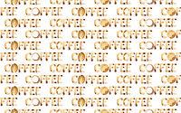 Word coffee seamless