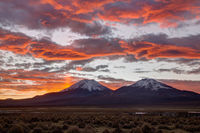 Sunset Sajama National Park