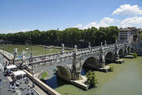 Ponte Sant Angelo, bridge, Tiber River, Rome, Italy, Europe