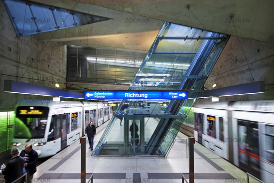 metro station Rathaus Sued, Bochum, Ruhr Area, Germany, Europe