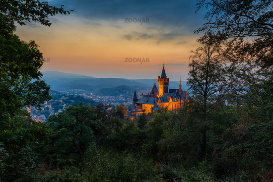 The famous Castle of Werningerode, Harz Mountains, Central Germany
