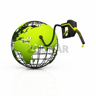 Green World Konzept - Bio Tanken