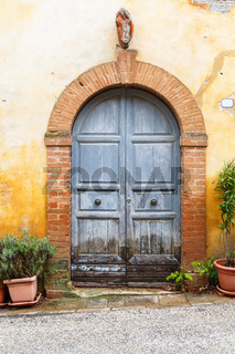 Old wooden door on a house