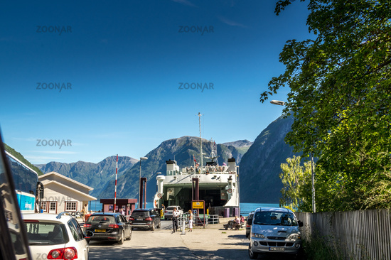 At the Geiranger ferry