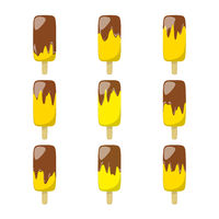 nine different ice lolly