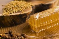 honeycomb, pollen and propolis