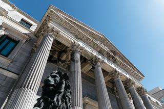 Main entrance to Spanish Parliament