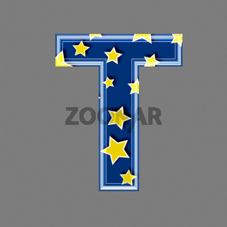 3d letter with star pattern