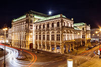 Famous State Opera in Vienna Austria at night