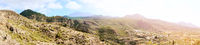 Panoramic landscape of highland in Tenerife