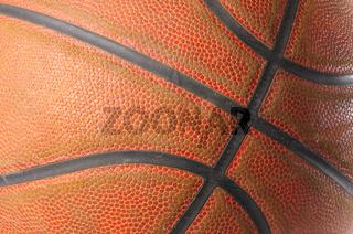 closeup of a basketball ball