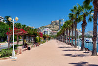 Seafront promenade of Alicante