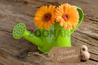 Geburtstagsgruß mit Schriftzug Happy Birthday