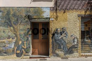 Wandmalereien in Bolotana, Sardinien