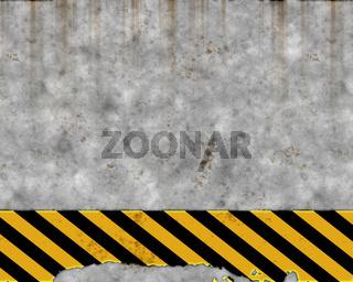 old hazard wall